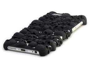 iPhone 6 Skull Case in Black Natural Versatile Plastic