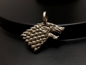 Stark Sigil Keychain in Polished Bronzed Silver Steel