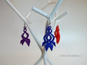 Twisted Horn earrings in Polished Nickel Steel