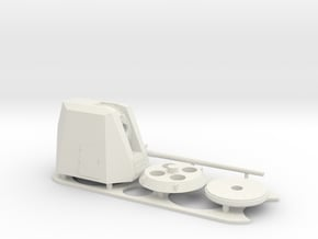 1:72 scale - 5-inch 62 Mk-45 mod 4 in White Natural Versatile Plastic