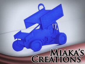 Sprint Car Ornament in Blue Processed Versatile Plastic