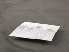 4''/10cm Mt. Kilimanjaro, Tanzania in White Natural Versatile Plastic