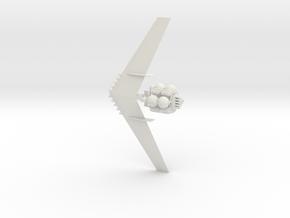 Mars Spaceship in White Natural Versatile Plastic