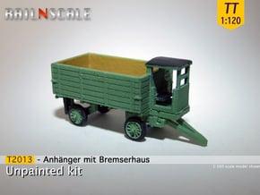 Anhänger mit Bremserhaus (TT 1:120) in Smooth Fine Detail Plastic