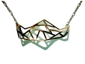 FabGeo Necklace in Polished Silver