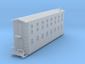 Bunk House Car Z Scale in Smooth Fine Detail Plastic
