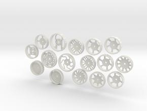 MiniFloppyBot-WheelKit in White Natural Versatile Plastic