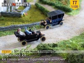 SET 2x Ford Model T (TT 1:120) in Smooth Fine Detail Plastic