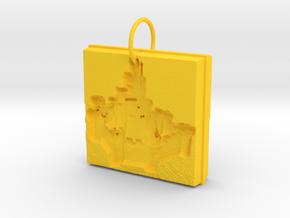 Enchanted Storybook Castles Pendant in Yellow Processed Versatile Plastic
