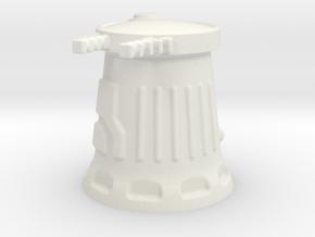 6mm Scale Sci-Fi Weapon Turret in White Natural Versatile Plastic