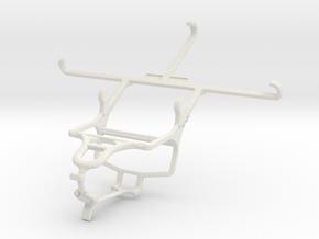 Controller mount for PS4 & Alcatel Hero 2 in White Natural Versatile Plastic