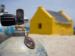 Bonaire Keychain/Pendant in Polished Bronze Steel