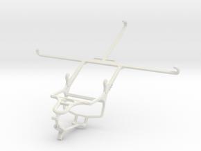 Controller mount for PS4 & Alcatel Hero 8 in White Natural Versatile Plastic