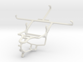 Controller mount for PS4 & Alcatel One Touch Hero in White Natural Versatile Plastic