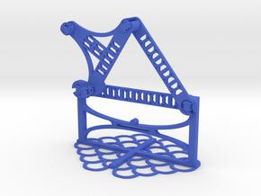 b: 4.57 c: 2.87 f: 3.39 CL: 2.00 CP: 4.25 in Blue Processed Versatile Plastic