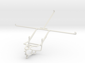 Controller mount for PS4 & Sony Xperia Z2 Tablet W in White Natural Versatile Plastic