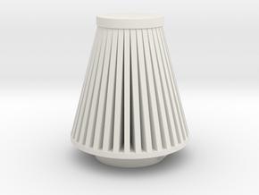 Cone Air Filter 1/12 in White Natural Versatile Plastic