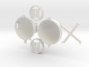 BallBot5-KIT in White Natural Versatile Plastic