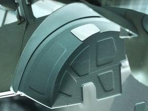 Sand Scorcher Inner Wheel Arches, Front in Black Natural Versatile Plastic