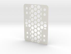 RazorWedge8Hole.1.0 in White Natural Versatile Plastic
