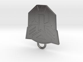 Autobot Fan Keychain in Polished Nickel Steel