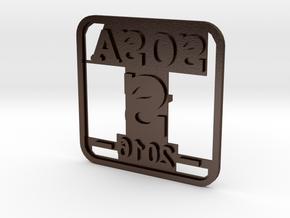 Sosa burn stamp in Polished Bronze Steel