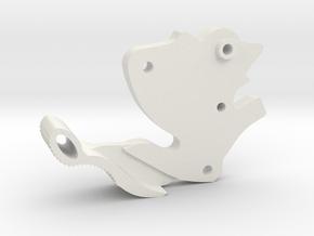 The Nerf HammerShot Alternate Hammer Mod in White Natural Versatile Plastic