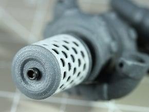 Sand Scorcher Air-filter Caps in White Processed Versatile Plastic