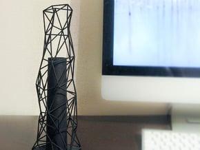 Flower_vase_02 in Black Natural Versatile Plastic