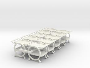 10 1:48 Deco Bar Cart in White Natural Versatile Plastic