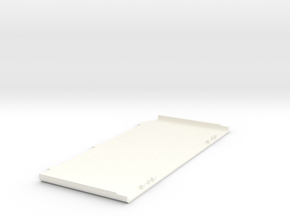 3DS Bottom Faceplate - Base in White Processed Versatile Plastic
