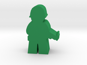 Game Piece, WW2 Allied Soldier in Green Processed Versatile Plastic