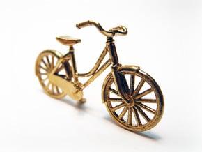 1:48 Vintage Bicycle in Natural Brass