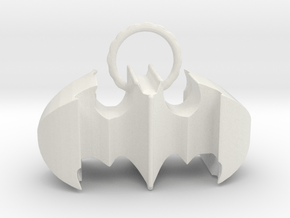 Batman keychain (or necklace ) in White Natural Versatile Plastic