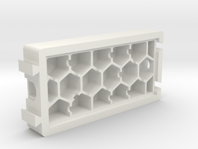 HoneyComb Module in White Natural Versatile Plastic