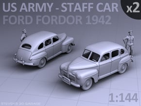 American Staff Car 1942 - (2 pack) in Smooth Fine Detail Plastic