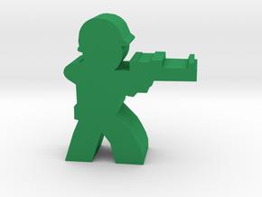 Game Piece, WW2 Allied Sniper in Green Processed Versatile Plastic