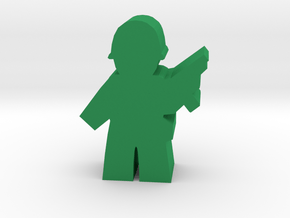 Game Piece, WW2 Allied Commander in Green Processed Versatile Plastic
