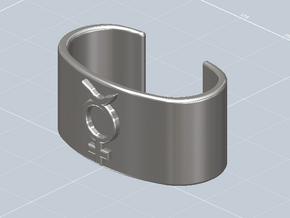 Mercury Symbol Cuff Bracelet in White Natural Versatile Plastic
