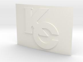 Seto Kaiba Belt Buckle in White Processed Versatile Plastic