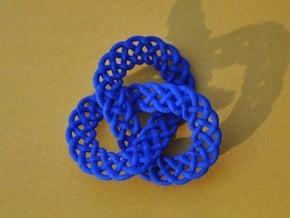 Celtic Knot Trefoil Pendant in Blue Processed Versatile Plastic