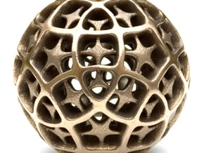 Dodecahedron XII, large in White Natural Versatile Plastic