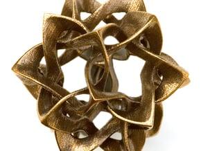 Icosahedron II, large in White Natural Versatile Plastic