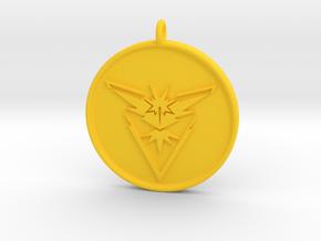 Pokemon Go - Instinct Team Pendant - WITH YOUR NAM in Yellow Processed Versatile Plastic