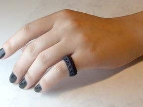 Brilliant Facets - Triangle Ring in Black Natural Versatile Plastic