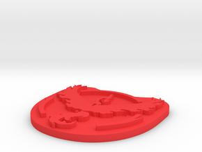Team Valor Badge in Red Processed Versatile Plastic