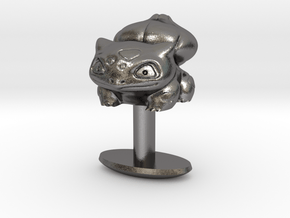 Pokemon Bulbasaur Cufflink in Polished Nickel Steel
