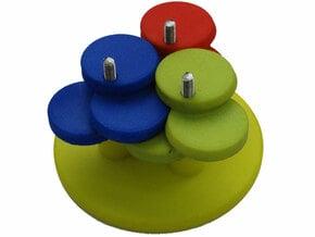 Push Circle Gears in White Processed Versatile Plastic
