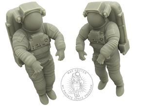 NASA Astronaut EMU (1:48 Double Pack) in White Natural Versatile Plastic