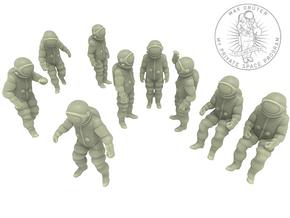 Generic Astronauts Set / 1:72 in White Natural Versatile Plastic